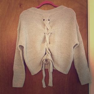 EXPESS Tie back sweater NWT